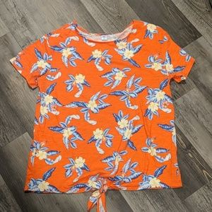 Tropical tie waist top from Old Navy.